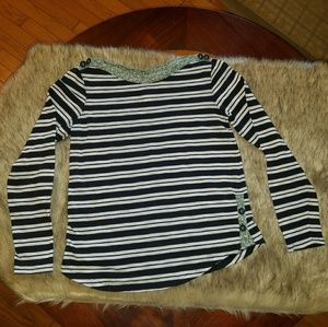 Postage Stamp Striped Long Sleeve Shirt